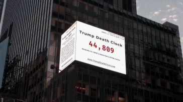 El 'reloj de las muertes de Trump' provocadas por su 'inacción' ante el Covid-19
