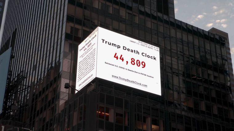 El 'reloj de las muertes de Trump' provocadas por su