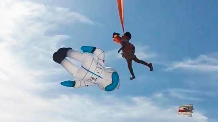 Terror en Taiwán: Una niña sale volando en una exhibición de cometas