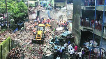 39 muertos por el derrumbe de un edificio cerca de Bombay (India)
