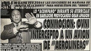 Argentina desclasifica los documentos sobre el OVNI que persiguió a Polanco