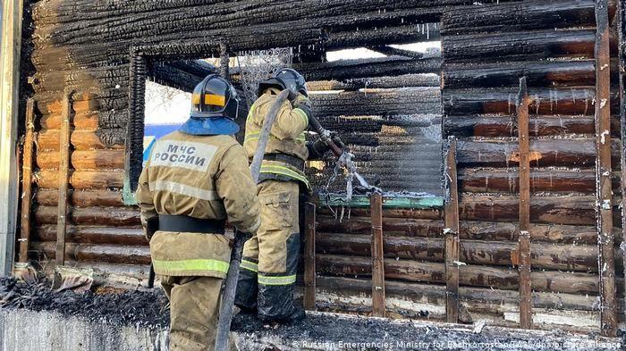 Al menos 11 muertos en una residencia de Rusia por un incendio