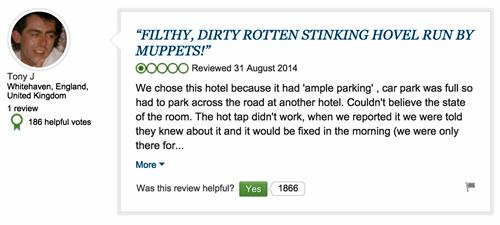 Multa por criticar un hotel en Internet