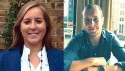 Katie Locke (izquierda) y su asesino, Carl Langdell (derecha)