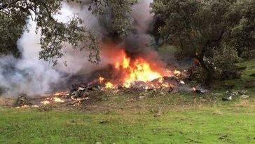 Dos adultos y dos menores mueren tras estrellarse una avioneta en Toledo