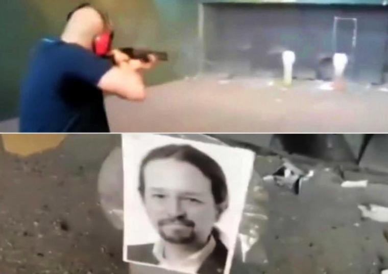 A tiros contra fotos de miembros del Gobierno