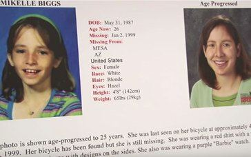 Un billete podría ser la clave para encontrar a una niña desaparecida en 1999
