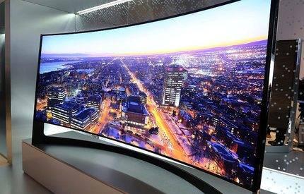 El televisor curvo UHD más grande del mundo